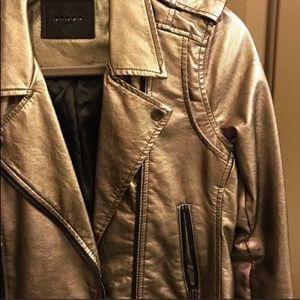 Blank NYC, metallic leather moto jacket 150$